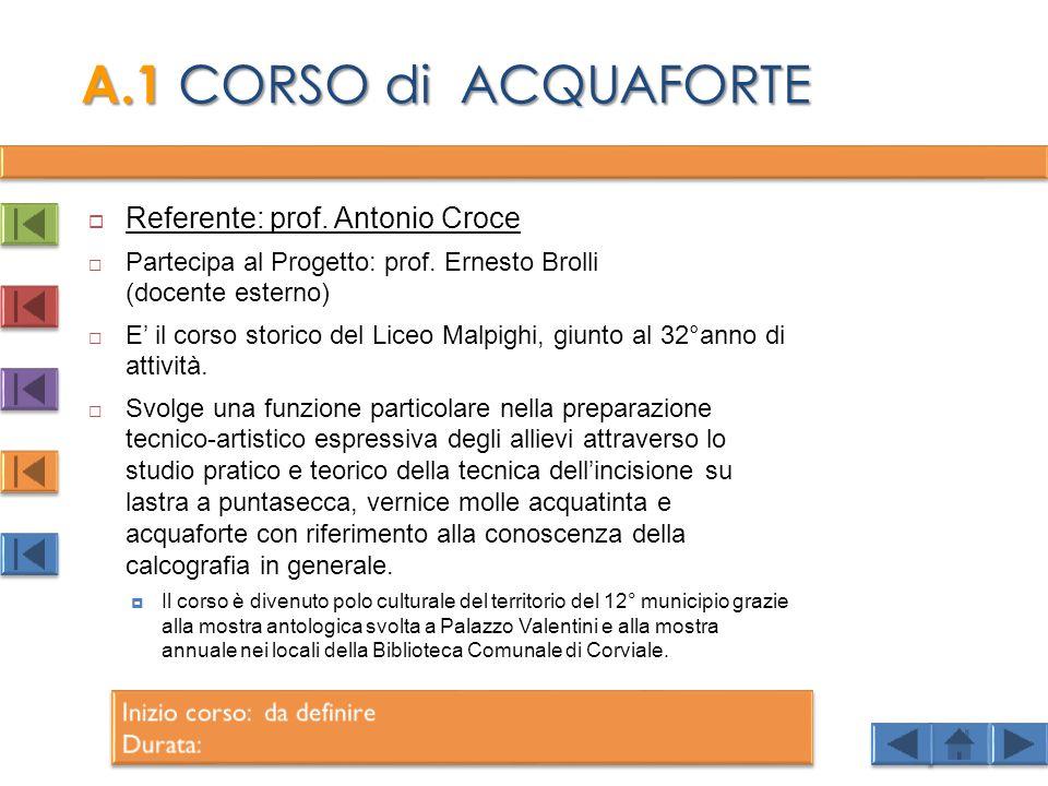  Referente: prof.Antonio Croce  Partecipa al Progetto: prof.