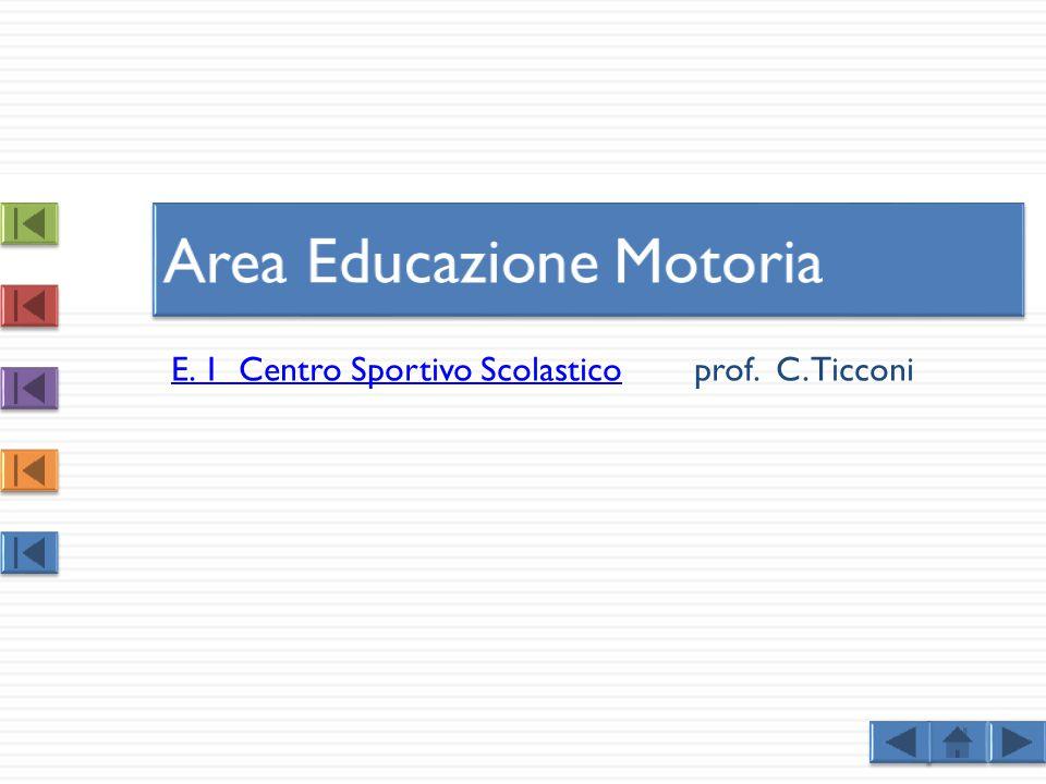 E. 1 Centro Sportivo ScolasticoE. 1 Centro Sportivo Scolasticoprof. C. Ticconi