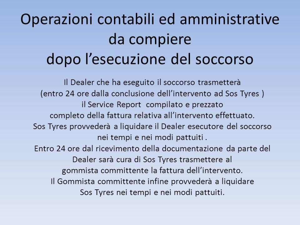 Operazioni di attivazione soccorso Sos Tyres riceverà on line ed in tempo reale la scheda che il gommista ha compilato dal sito di Farnese Pneumatici SpA, prendendo in carico il soccorso.