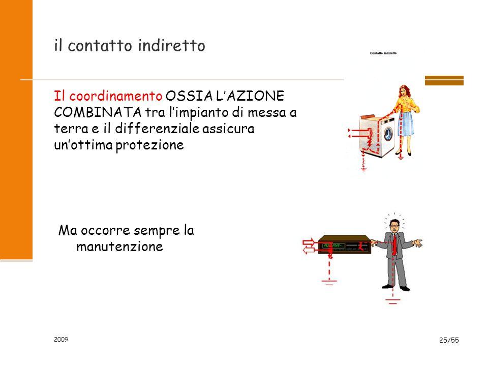 il contatto diretto Non vi sono sistemi di sicurezza efficaci contro il contatto diretto con i cavi elettrici. Il differenziale a 0.03A aumenta solo l