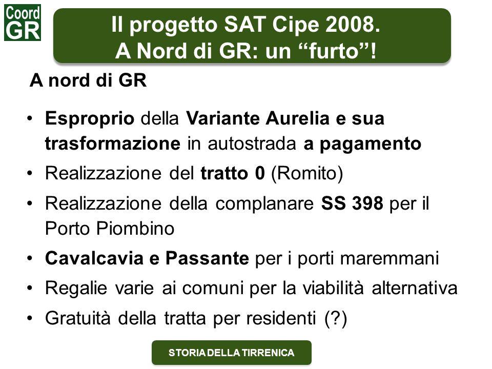 STORIA DELLA TIRRENICA Esproprio della Variante Aurelia e sua trasformazione in autostrada a pagamento Realizzazione del tratto 0 (Romito) Realizzazio