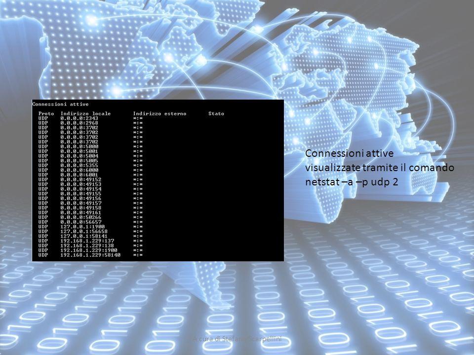A cura di Stefano Scarpellini Connessioni attive visualizzate tramite il comando netstat –a –p udp 2
