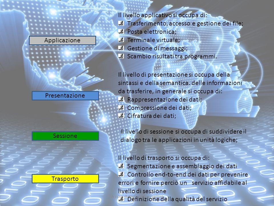 Il livello di trasporto si occupa di: Segmentazione e assemblaggio dei dati Controllo end-to-end dei dati per prevenire errori e fornire perciò un ser