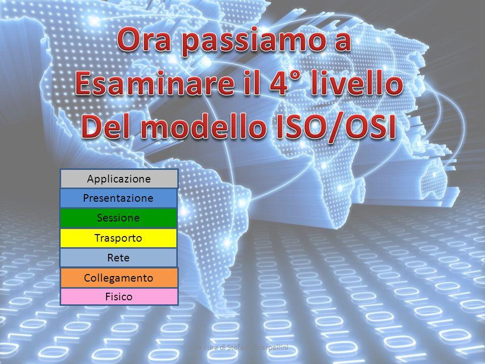 A cura di Stefano Scarpellini Fisico Collegamento Rete Sessione Presentazione Applicazione Trasporto