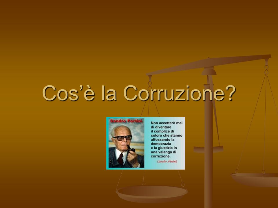 Cos'è la Corruzione?