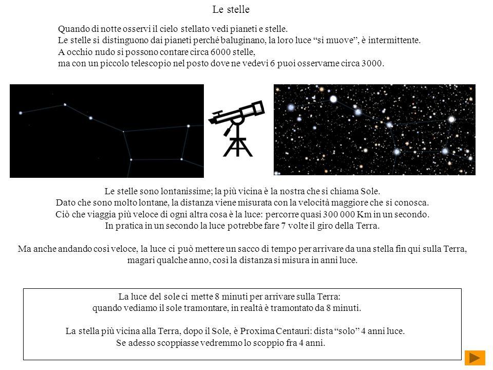 Le stelle Quando di notte osservi il cielo stellato vedi pianeti e stelle.