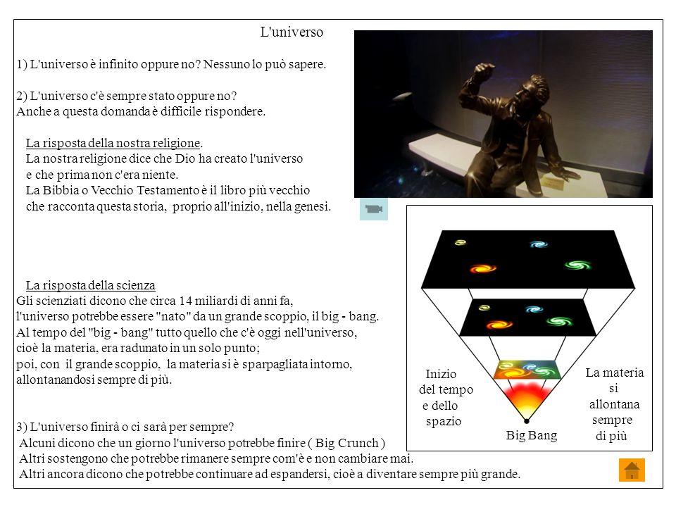 L universo 1) L universo è infinito oppure no.Nessuno lo può sapere.
