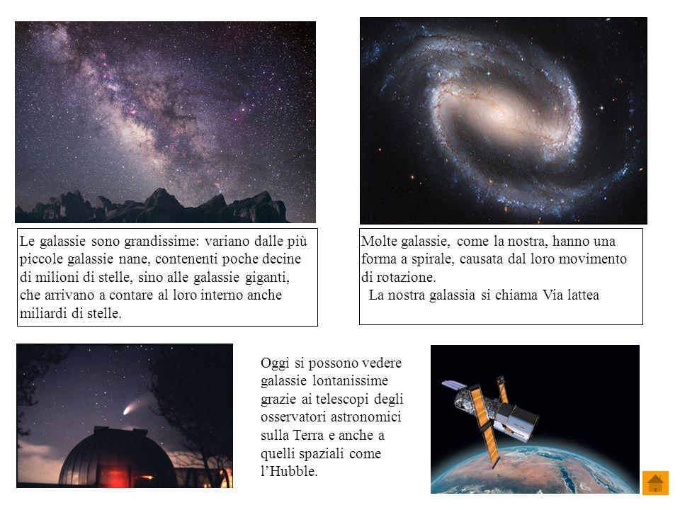 Molte galassie, come la nostra, hanno una forma a spirale, causata dal loro movimento di rotazione.