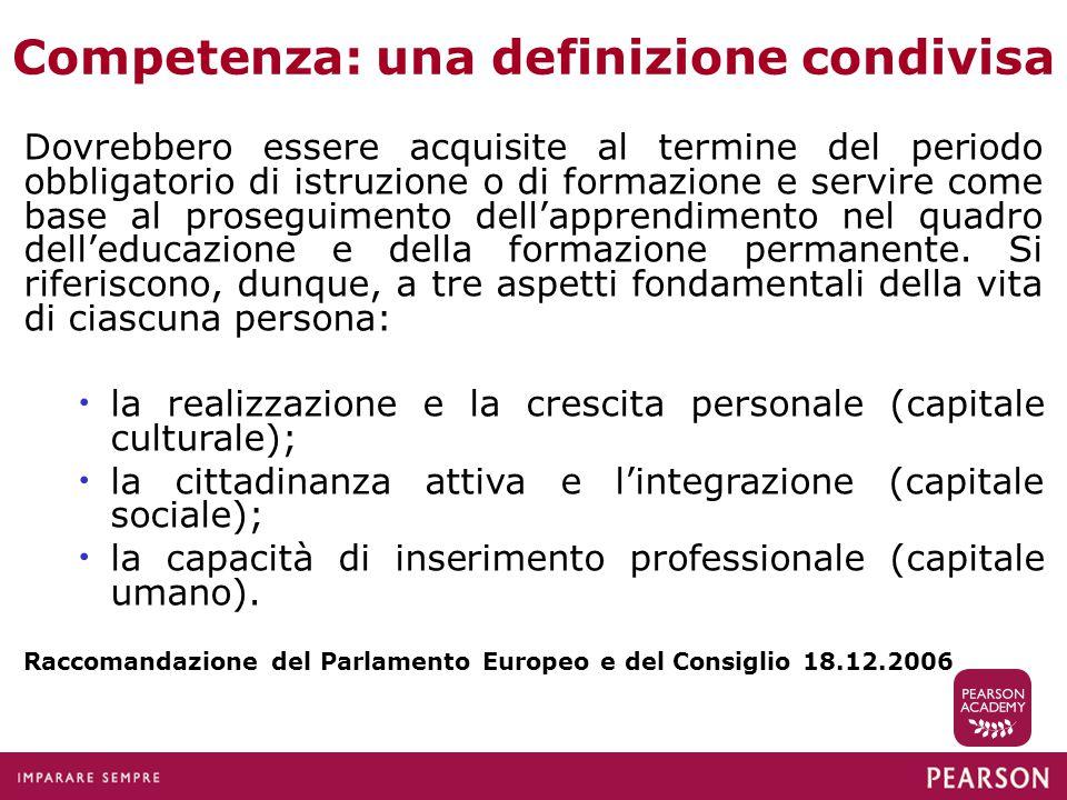 Le otto competenze chiave per la cittadinanza e l'apprendimento permanente Raccomandazione del Parlamento Europeo e del Consiglio 18.12.2006 1.