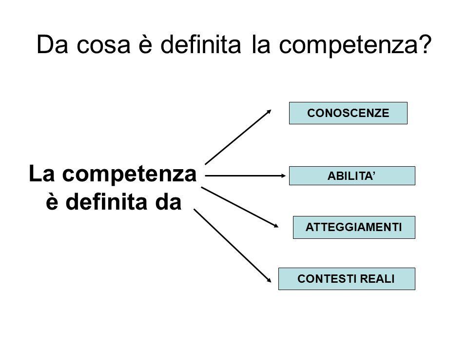 Abilità - conoscenze Ogni ambito ha conoscenze ed abilità specifiche.