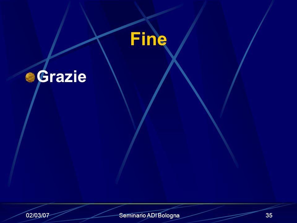 02/03/07Seminario ADI Bologna35 Fine Grazie