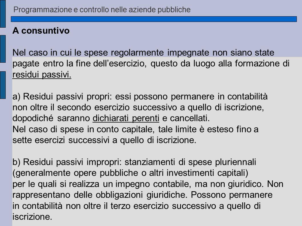 Programmazione e controllo nelle aziende pubbliche La rilevazione – fasi delle entrate 1) Accertamento: sorge il diritto di riscuotere una determinata somma.