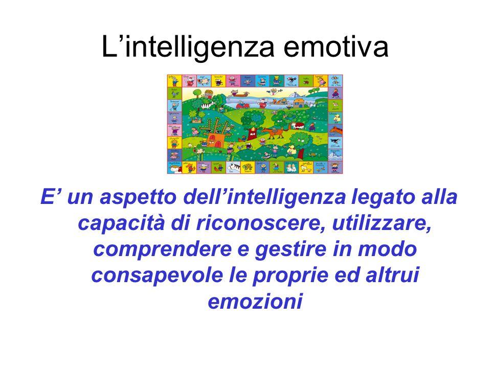 L'intelligenza emotiva E' un aspetto dell'intelligenza legato alla capacità di riconoscere, utilizzare, comprendere e gestire in modo consapevole le p