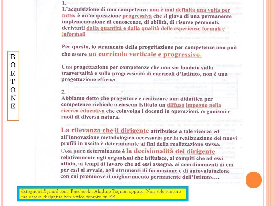 dstognon1@gmail.com Facebook : Aladino Tognon oppure: Non solo vincere ma essere dirigente Scolastico sempre su FB BORTONEBORTONE