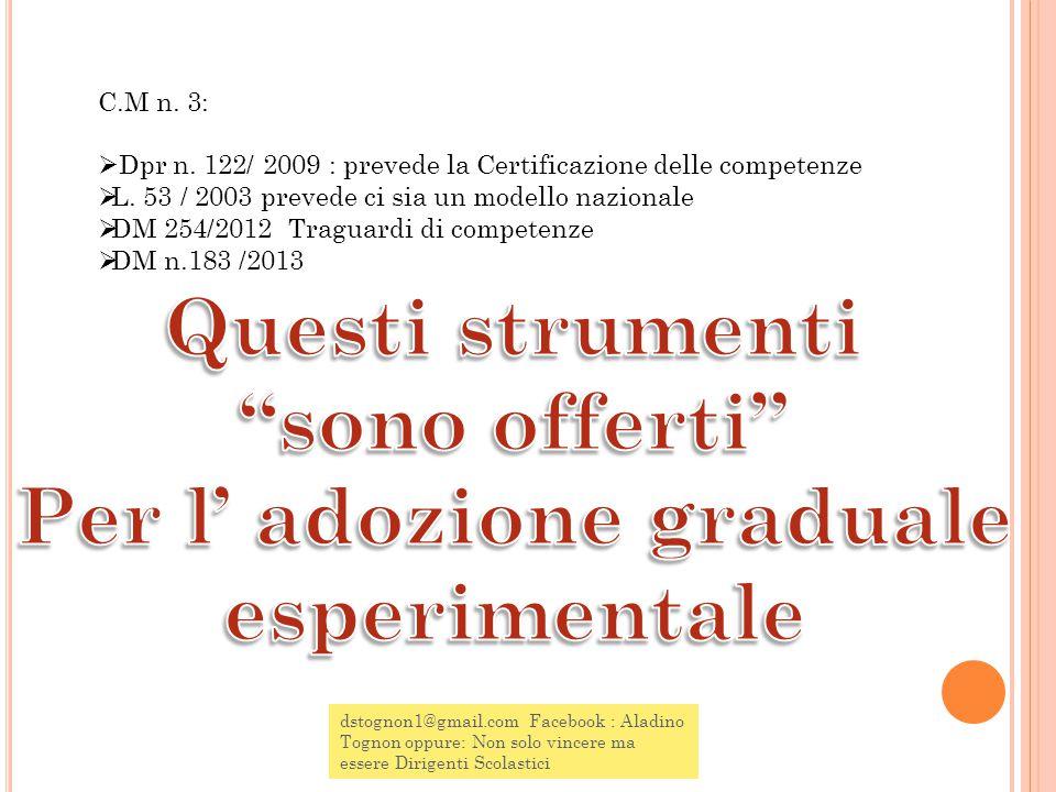 dstognon1@gmail.com Facebook : Aladino Tognon oppure: Non solo vincere ma essere Dirigenti Scolastici C.M n.