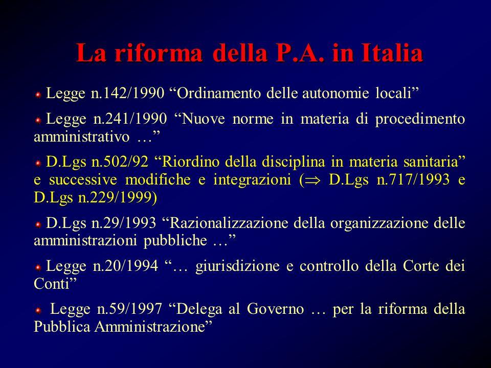 La riforma della P.A.