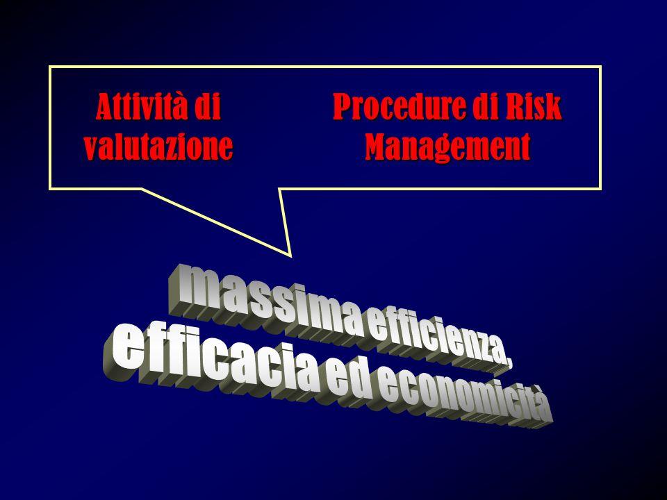 Attività di valutazione Procedure di Risk Management