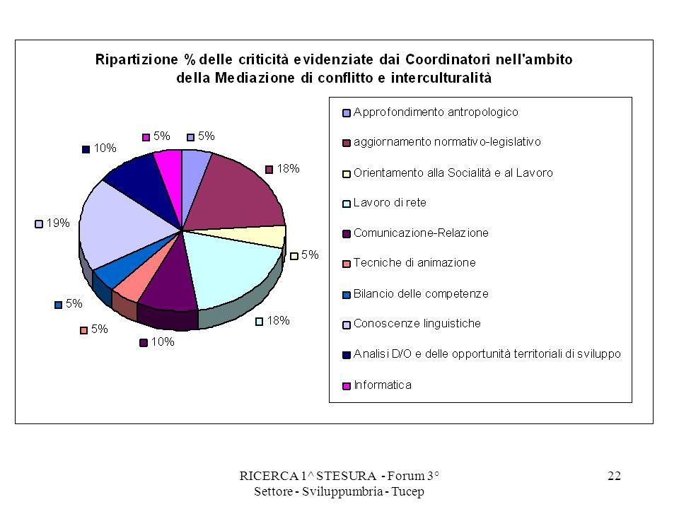 RICERCA 1^ STESURA - Forum 3° Settore - Sviluppumbria - Tucep 22