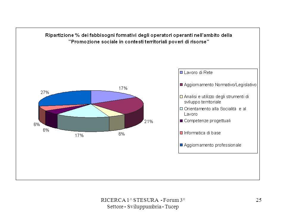 RICERCA 1^ STESURA - Forum 3° Settore - Sviluppumbria - Tucep 25