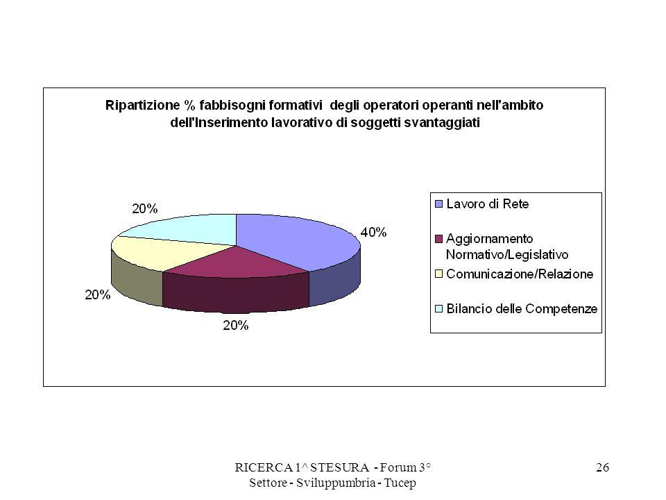 RICERCA 1^ STESURA - Forum 3° Settore - Sviluppumbria - Tucep 26