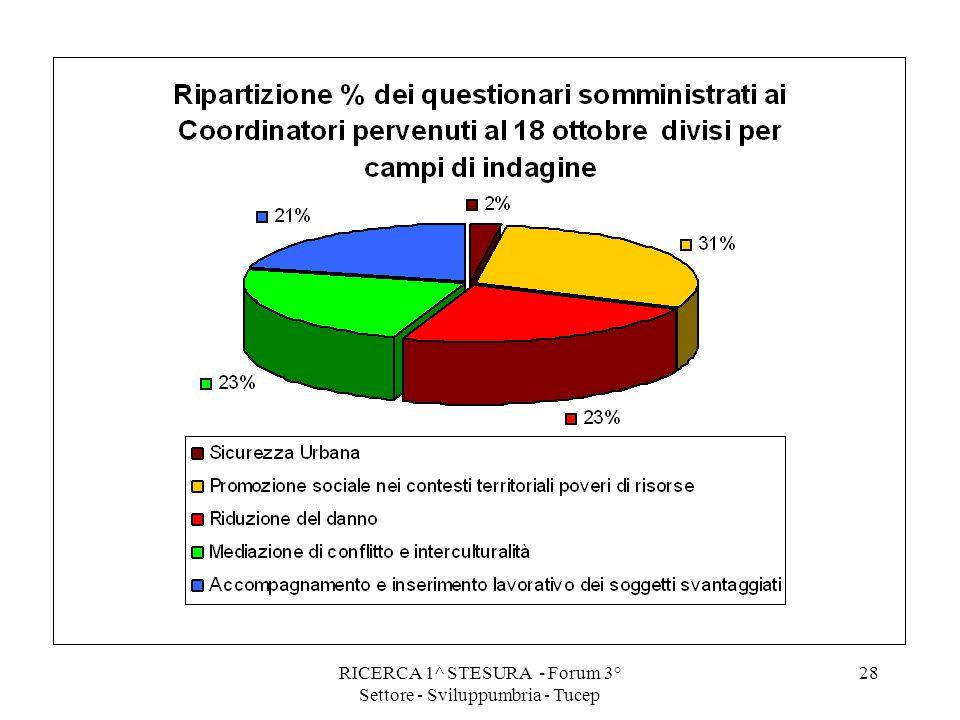 RICERCA 1^ STESURA - Forum 3° Settore - Sviluppumbria - Tucep 28