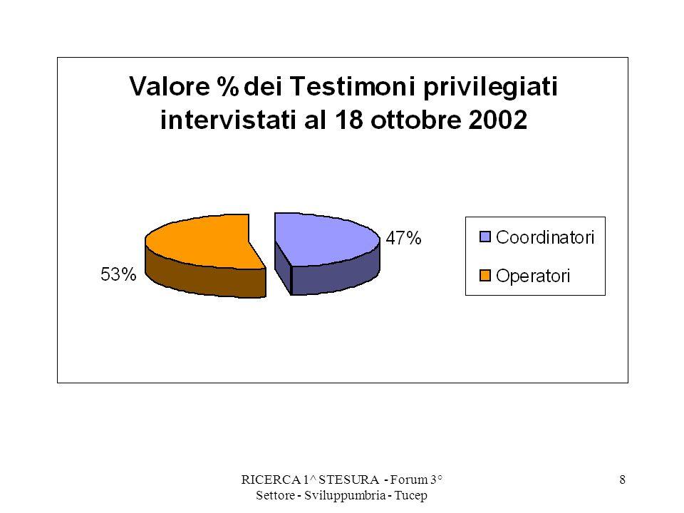 RICERCA 1^ STESURA - Forum 3° Settore - Sviluppumbria - Tucep 8