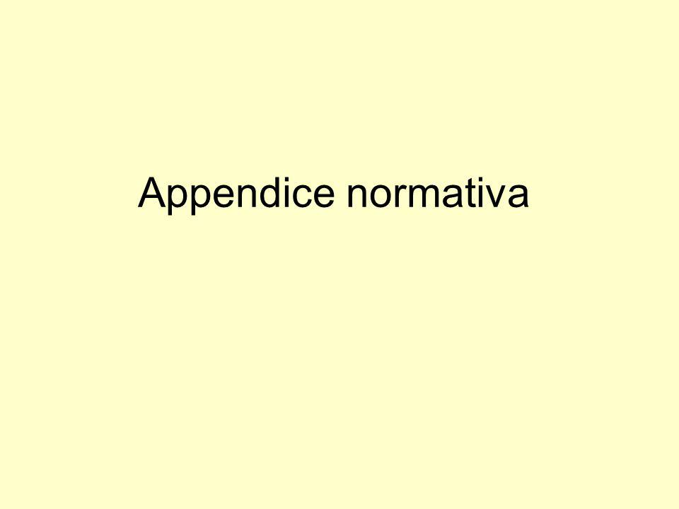 Appendice normativa