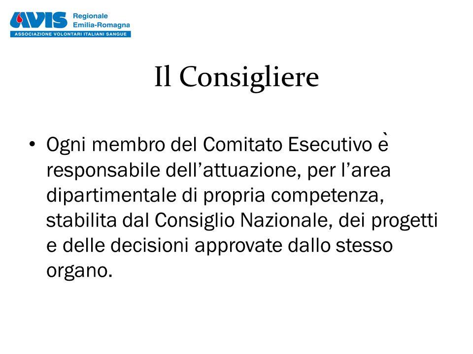 Il Consigliere Ogni membro del Comitato Esecutivo e ̀ responsabile dell'attuazione, per l'area dipartimentale di propria competenza, stabilita dal Con