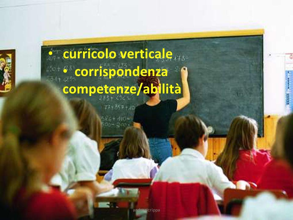 curricolo verticale corrispondenza competenze/abilità andrea crippa