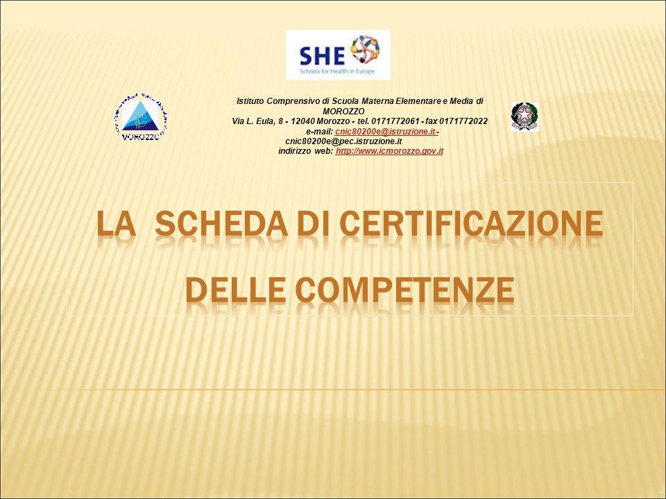 Istituto Comprensivo di Scuola Materna Elementare e Media di MOROZZO Via L. Eula, 8 - 12040 Morozzo - tel. 0171772061 - fax 0171772022 e-mail: cnic802