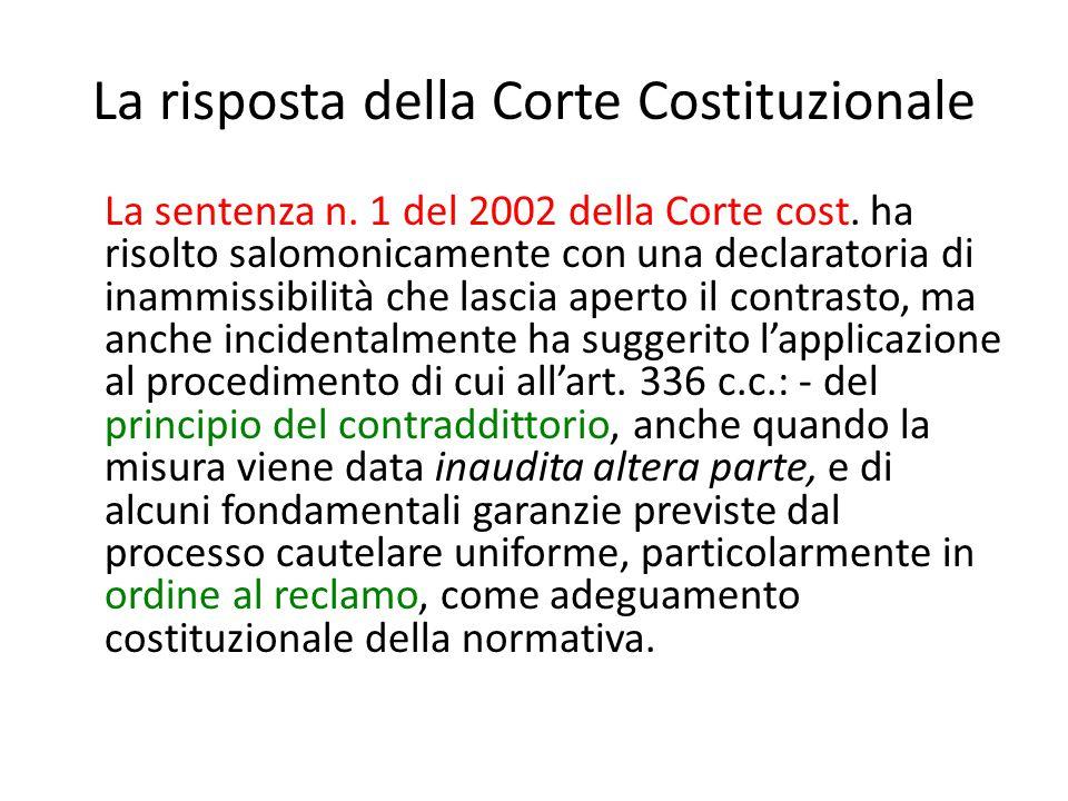 La risposta della Corte Costituzionale La sentenza n.