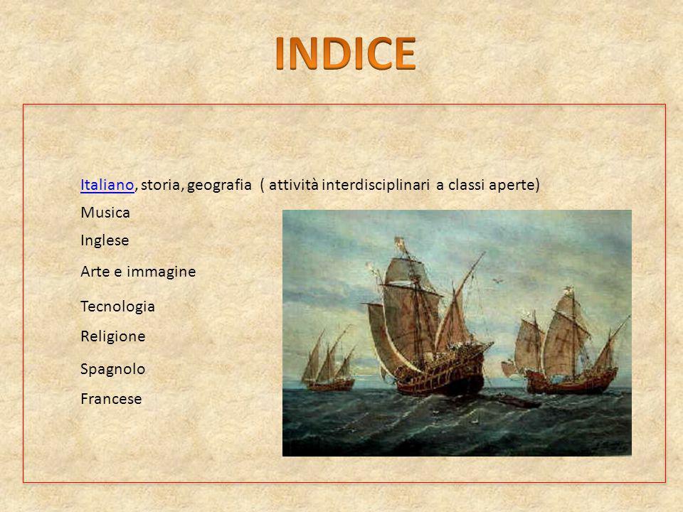 ItalianoItaliano, storia, geografia ( attività interdisciplinari a classi aperte) Musica Inglese Arte e immagine Tecnologia Religione Spagnolo Frances