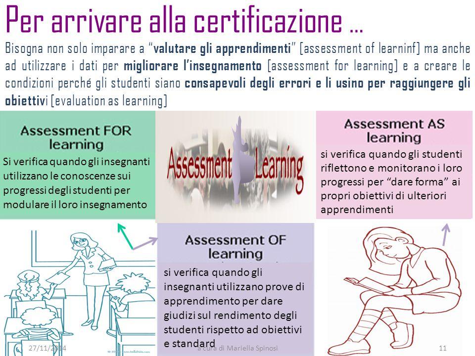 """Bisogna non solo imparare a """" valutare gli apprendimenti """" [assessment of learninf] ma anche ad utilizzare i dati per migliorare l'insegnamento [asses"""