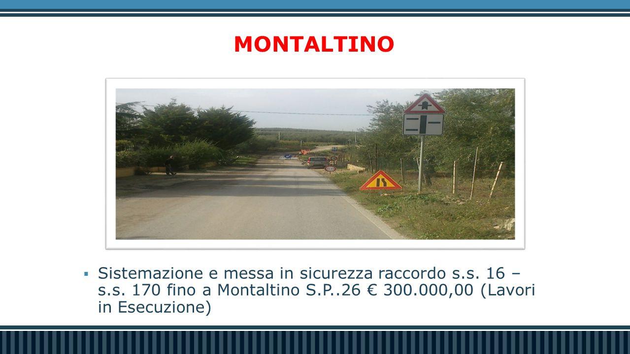 Strada Martinelli e di scavalco sulla Sp2 Andriese-Coratina  Lavori di recupero opera d'arte  € 690.000,00  Progetto definitivo