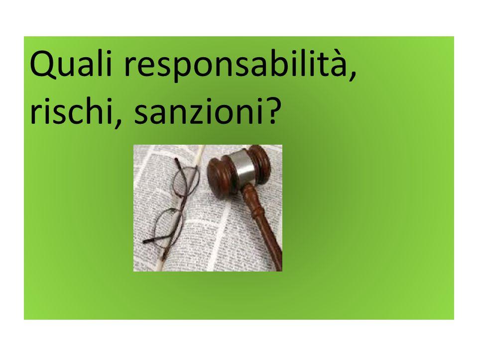 Quali responsabilità, rischi, sanzioni?