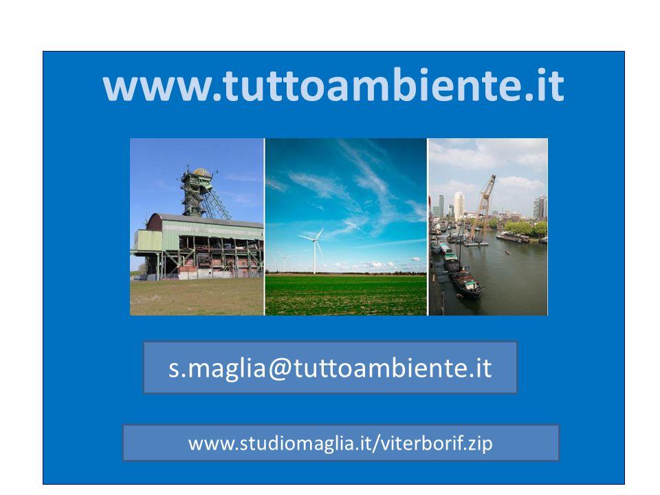 www.tuttoambiente.it s.maglia@tuttoambiente.it www.studiomaglia.it/viterborif.zip