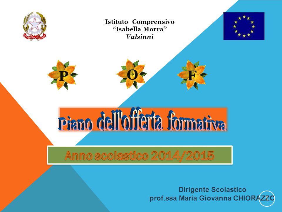 """Istituto Comprensivo """"Isabella Morra"""" Valsinni Dirigente Scolastico prof.ssa Maria Giovanna CHIORAZZO 1"""