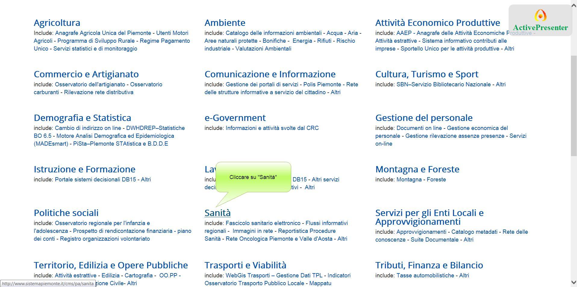Cliccare sulla barra ''Anno Precedente'' per ordinare i valori selezionabili Valori utili per filtrare la ricerca.