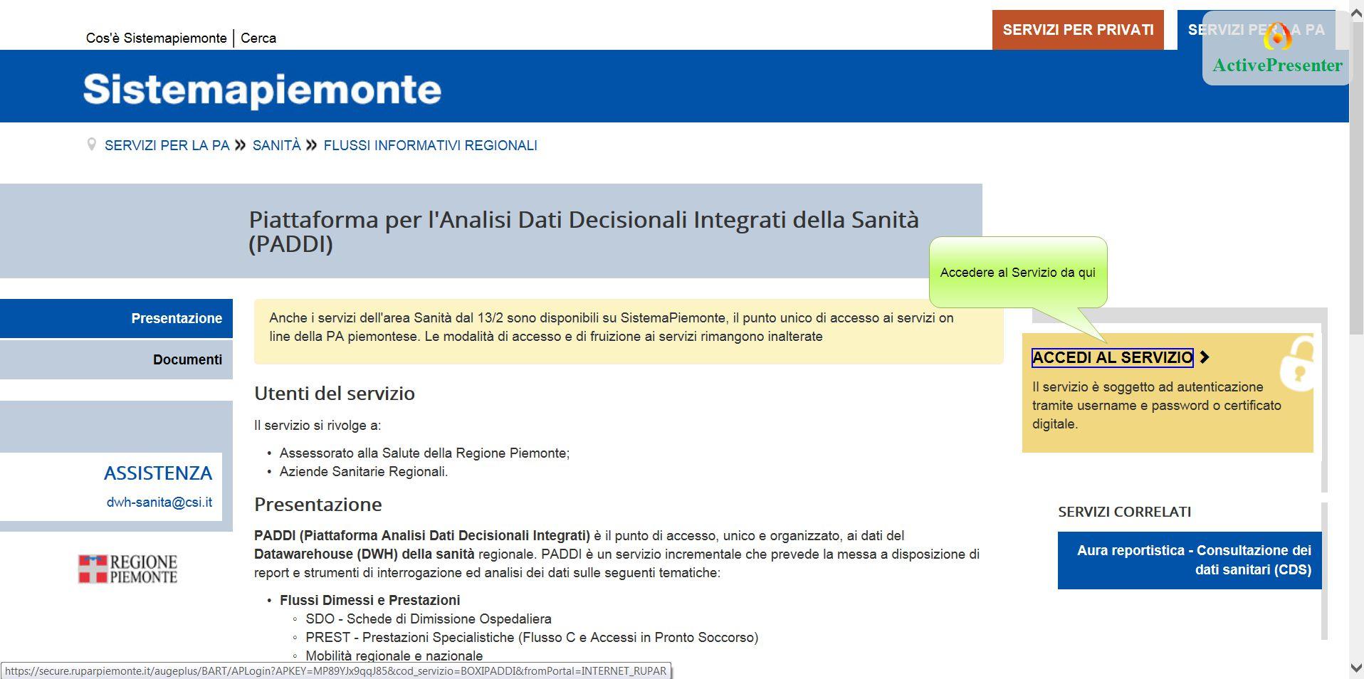 Per poter esportare il report, cliccare su Documento