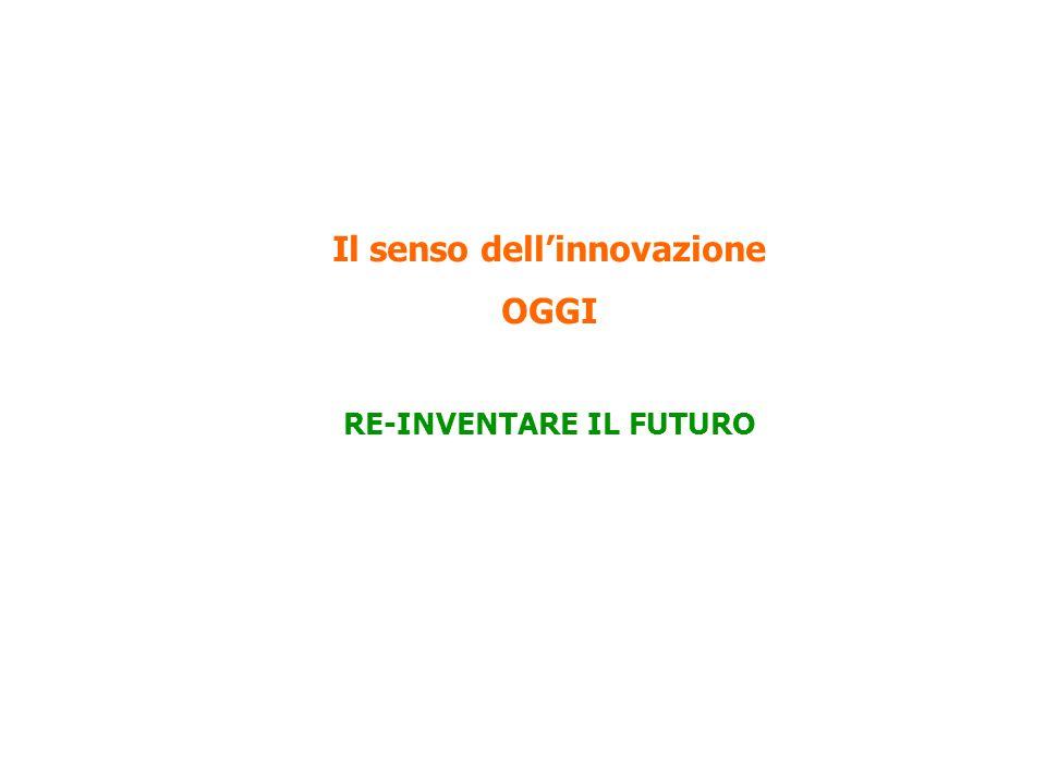 Il senso dell'innovazione OGGI RE-INVENTARE IL FUTURO