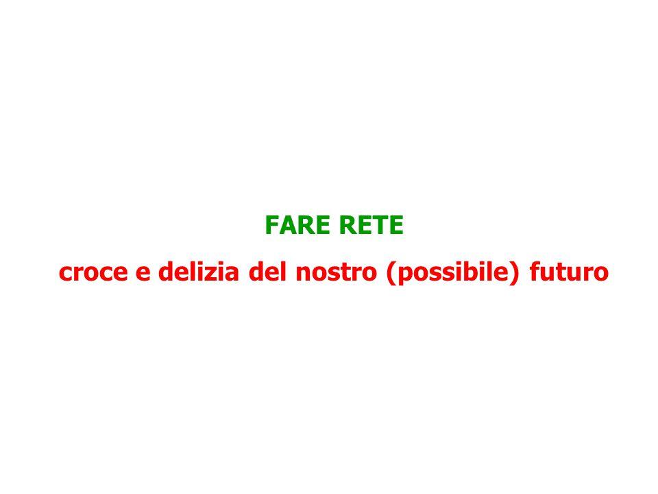LA RETE: UN LEGAME CHE FA RENDERE LE CONOSCENZE Una rete è un sistema stabile di collaborazione tra imprese complementari che sfruttano l'affidabilità del legame per dividersi il lavoro nel modo più conveniente Le reti di impresa hanno una lunga tradizione in Italia, proprio perché la rete compensa gli svantaggi della piccola scala (cooperative, consorzi, ATI, joint ventures, alleanze ecc.) Oggi le reti sono – per le piccole e per le grandi imprese – la forma tipica della divisione del lavoro impiegata nella valorizzazione a scala globale della conoscenza.