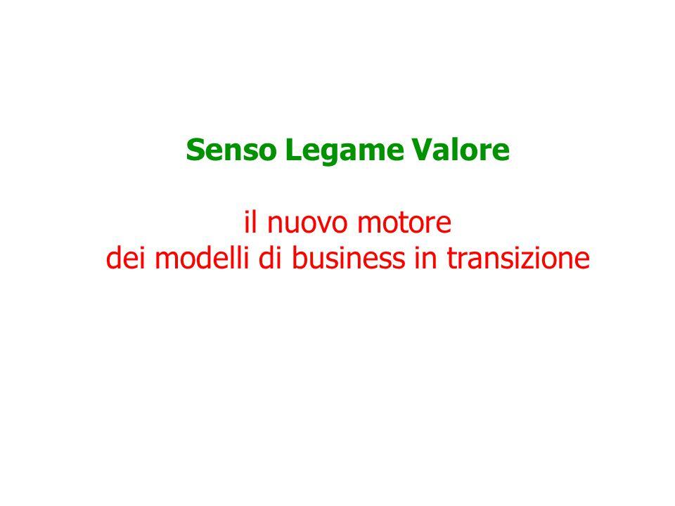 Senso Legame Valore il nuovo motore dei modelli di business in transizione