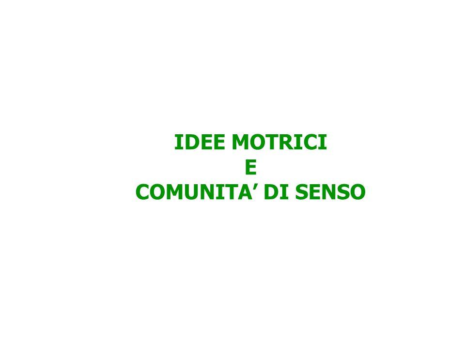 IDEE MOTRICI E COMUNITA' DI SENSO