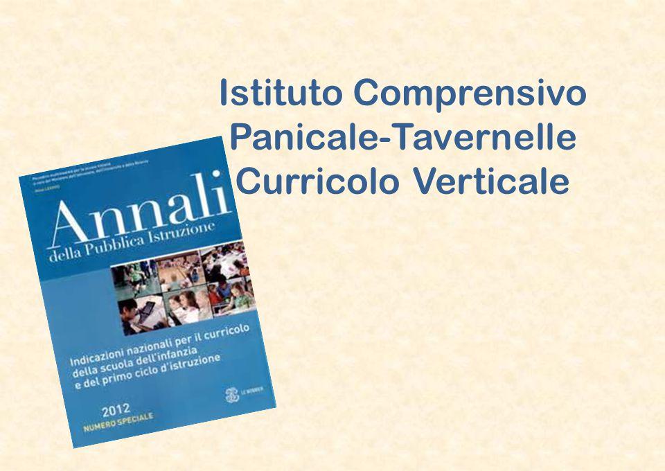 Istituto Comprensivo Panicale-Tavernelle Curricolo Verticale