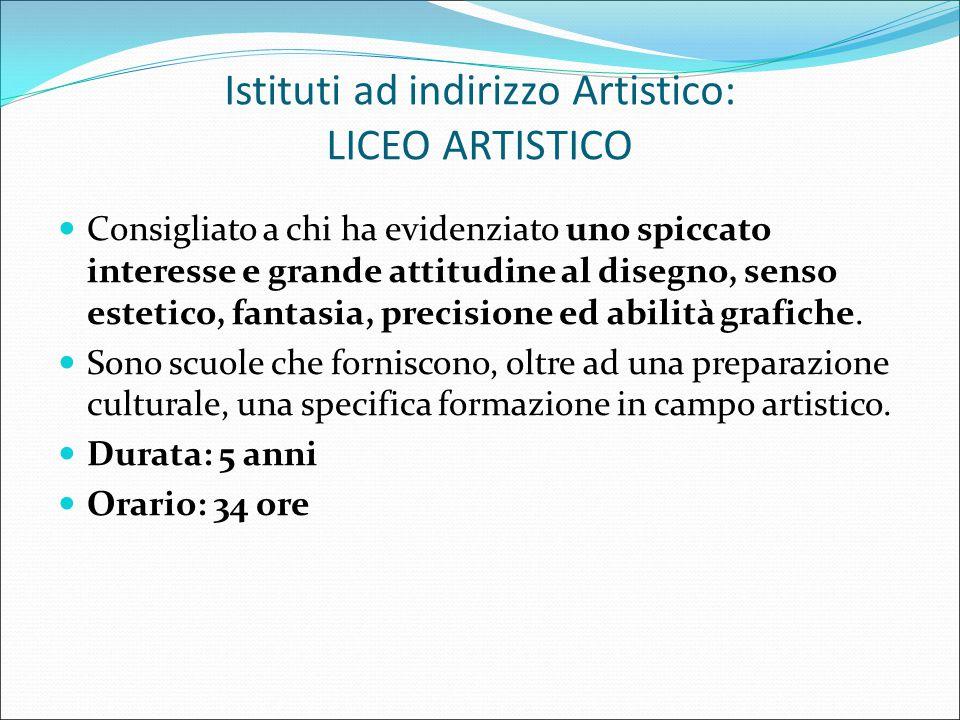 Istituti ad indirizzo Artistico LICEO ARTISTICO STATALE TREVISO Sono previsti, a partire dal secondo biennio, gli indirizzi Architettura ed Ambiente Arti Figurative Design Grafica Audiovisivi e Multimedialità Scenografia