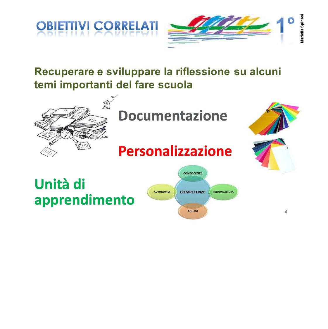 Recuperare e sviluppare la riflessionesusualcuni temiimportantideldelfarescuola 4 Mariella Spinosi