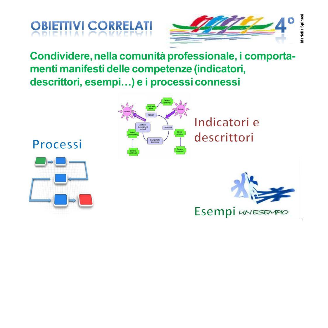 7 Condividere, nella comunità professionale, i comporta- menti manifesti delle competenze (indicatori, descrittori, esempi…) e i processi connessi Mar