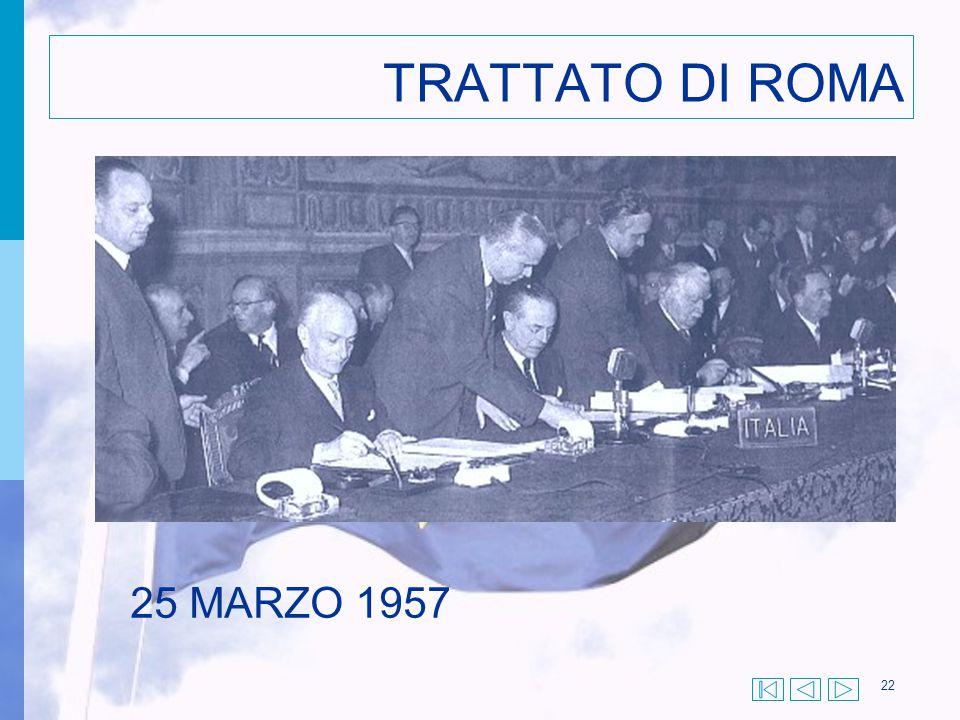 22 TRATTATO DI ROMA 25 MARZO 1957