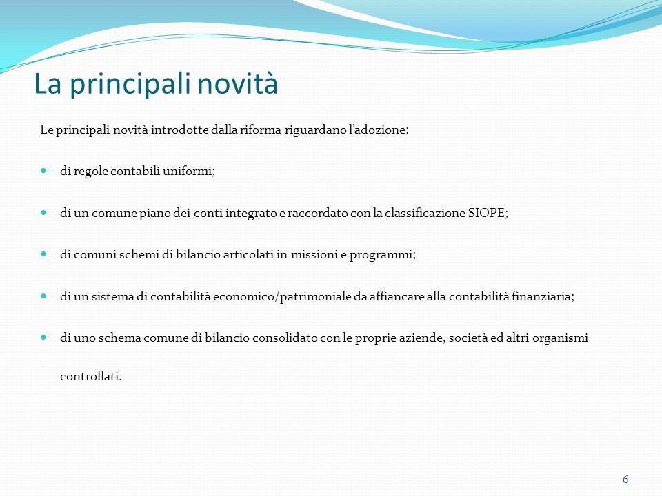 La competenza finanziaria potenziata Il fondo pluriennale vincolato Il punto 5.4.