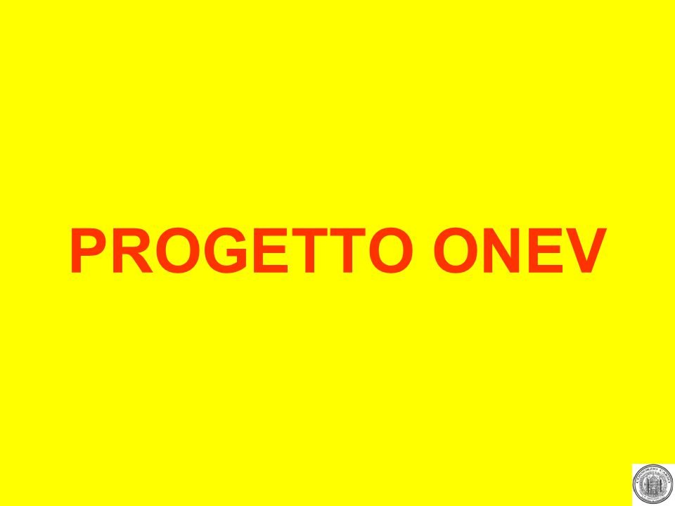 PROGETTO ONEV